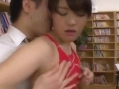 Japanese Teen In Swimsuit Fucked In Library