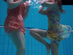 Bubarek And Birtakik Enjoy Eachother In The Pool