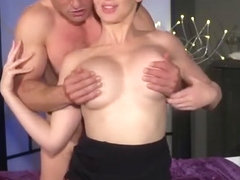Hot short hair babe Yasmin Scott getting licked and fucked