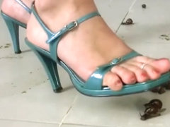 Naked high heels snail crush - Kristina
