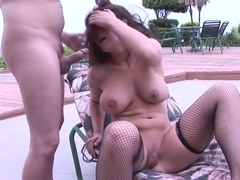 Best pornstar Beverly Hills in crazy brunette, outdoor sex movie