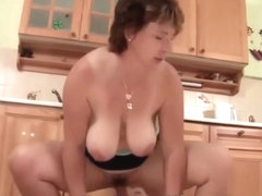 Granny Kitchen Sex