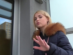 Public Agent Hot Blonde Gets A Mouthful Of Cum