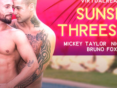 Sunset Threesome - Virtualrealgay