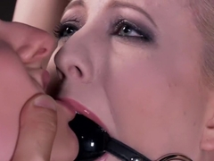 Hottest fetish sex movie with crazy pornstars Cherry Torn and Amy Faye from Dungeonsex