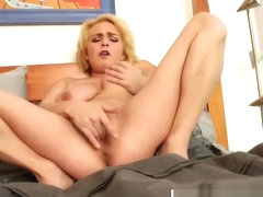 Sexy solo action with busty blonde Ashlee Graham