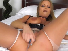 Britney Amber - ripping those pantyhose