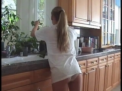 Lovely teen shows her knickers in a teen voyeur video