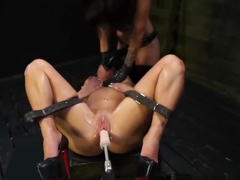 Sub Slut Gets Machine And Strapon Fuck