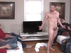 Hot gay double penetration with facial