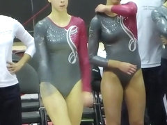 Delicious gymnast with big ass performs some amazing moves
