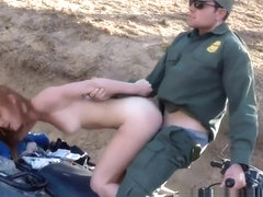 Police Brutal Bang Border Hopping Redhead Loves Cock