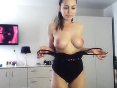 Hot Amateur Brunette Gives A Sexy Solo Show