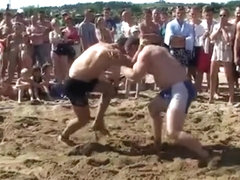Strong girl sand wrestling tournament - wrestling matches