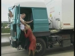 Horny trucker fucked one hot MILF and came on her face