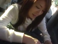 Best Japanese slut Minori Hatsune in Hottest Car, POV JAV movie