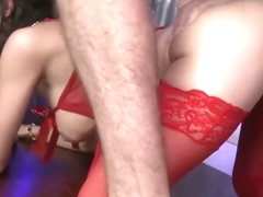 LegalPorno Trailer - Busty slut Sophia Laure assfucked & DP'ed in stripclub