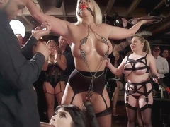 Stunning and fat slaves at bdsm orgy