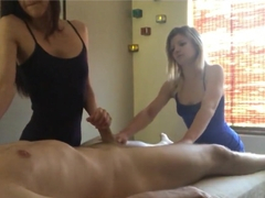 Massage Girls - Four Handed Happy Ending Massage Blow Job