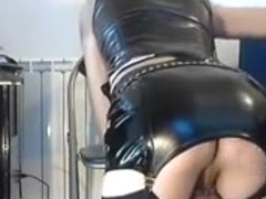 Fabulous Amateur Shemale record with Masturbation, Latex scenes