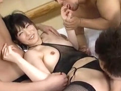 Hottest Japanese chick An Nanba in Fabulous Stockings, Toys JAV video