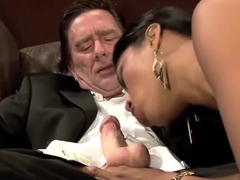 Black Chick Is Happy To Ride Him