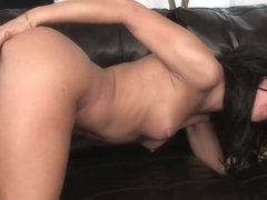 Delicious masturbation by a horny bombshell