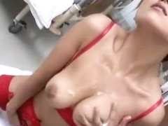 Exotic Japanese chick Azusa Isshiki in Amazing Stockings, Nurse JAV movie