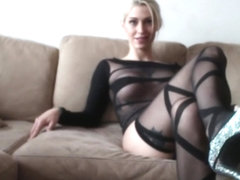 Worship Kleio Valentien beautiful feet and long legs