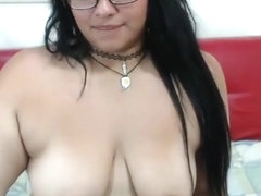 Saggy chubby latina with glasses