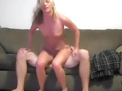 Blonde Cutie Is Into Riding All The Time