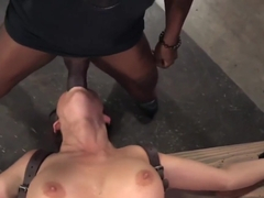 Bigtitted Sub Throats Cock In Maledom Trio