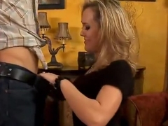 Pleasing blonde experienced woman Brandi Love is fucking hard