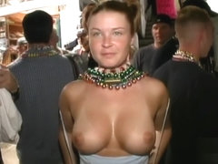 Minnesota women showing off their tits and pussies at Mardi Gras