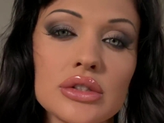 Aletta Ocean pisses and fists her pussy in the bathroom
