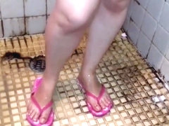 Mexican chubby shower (Gorda mexicana en ducha)