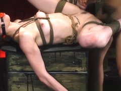 Stunning redhead Alexa Nova gagged and smashed before facial