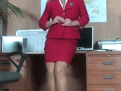 Hot Office Pussy Play In Pantyhose