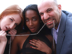 Ruby Fox & Cassandra Black & Rick Hard in 2 Fantasies for the Price of 1 - AcesOfPorn