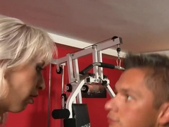 Anal fucking with Alexa Wild right in a gym