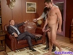 Dominating jock has sub bound while fucking ass
