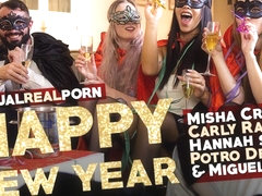 Carly Rae & Hannah Shaw & Miguel Zayas & Misha Cross & Potro de Bilbao in Happy New Year - Virtual.
