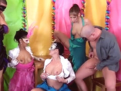 Piss Soaked Euro Babes Cumsprayed In Orgy