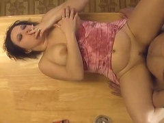 Smoking and Fucking on the Kitchen Table - ALHANA WINTER - Old Amateur Clip