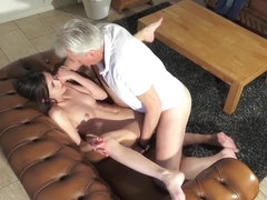 Innocent babe fucked by Grandfather