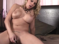 Busty Blonde Fucks her Ass With a Hotgvibe