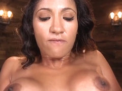 Latina Babe Fucks Machine And Squirts
