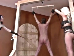 Bdsm Dominant Ladies Beat Up An Older Guy