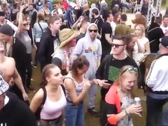 2 busty girls on music festival