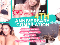 Chrissy Fox  George Lee  Heather Vahn in VirtualRealPorn 4th Anniversary compilation - VirtualReal.